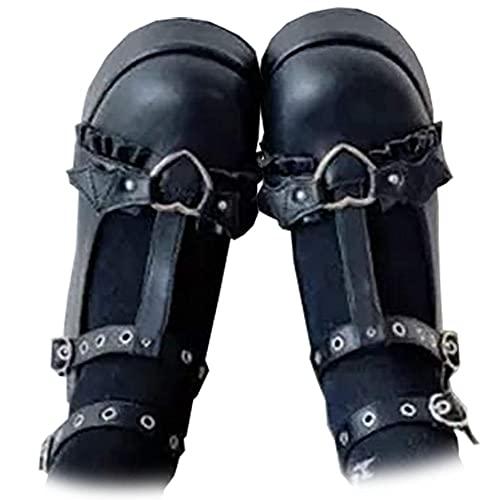 AOSPHIRAYLIAN 여성 고딕 롤리타 신발 발목 트랩 플랫폼 메리 제네스 드레스 펌프 코스플레이 신발