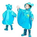 子供のポンチョ かわいい柄 超軽量 着やすい 撥水加工 レインウェア ポンチョ 子供 男女兼用 防風 、雨の日の保育園や幼稚園、小学校への通学にぴったりのかわいいポンチョ
