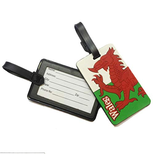 **New** Wales Welsh flag luggage tag [euro]