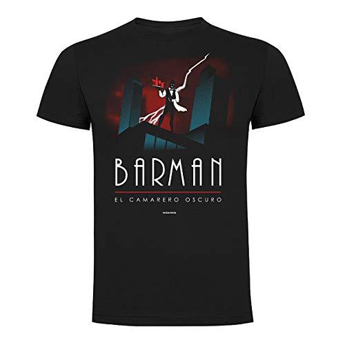 REI ZEN TOLO | Camisetas Hombre Originales | Camiseta Barman (El Camarero Oscuro) 100% Algodón Orgánico | Camiseta Hombre Divertida | Camiseta Hombre Friki | Camisetas Originales