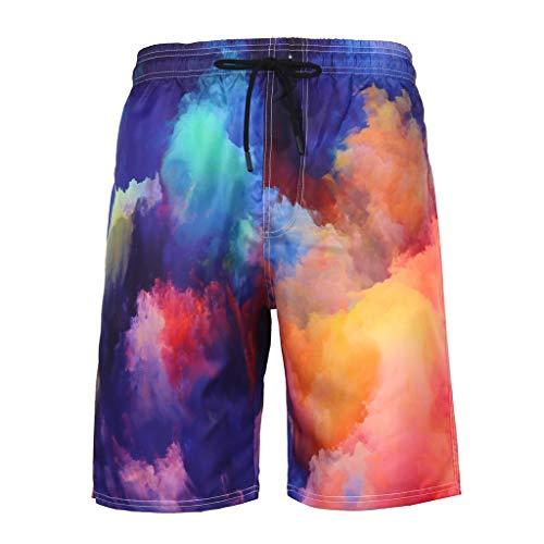 Yowablo Herren Shorts Badepants Sweatshorts Sport Shorts Trainingsshorts Kurze Jogginghose Boxer Shorts Kurze Hose Boxershorts Bermudas Sunbrief (3XL,6Mehrfarbig)