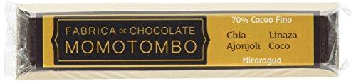 Fabrica de Chocolate Momotombo - Barretta Cioccolato Fondente Semi di Chia Lino Sesamo Noce di Cocco 70% - 4x50gr