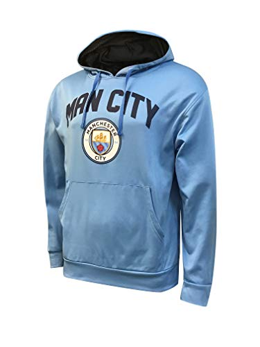 Icon Sports Manchester City Official Licensed Pullover Hoodie (Youth Small) Sky Blue