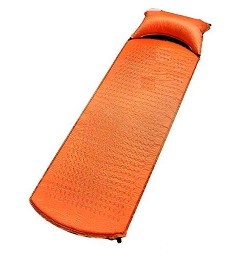 Outdoor Moisture Pad Pad Gonflable Automatique Tente Le Matelas Peut être Cousu Coussin Simple à Air,Orange