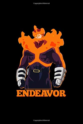 Endeavor: My Hero Academia , Matte Cover , Journal/Notebook for Writing, Gift, School & Office, College Ruled Size '6 x 9', 120 Pages