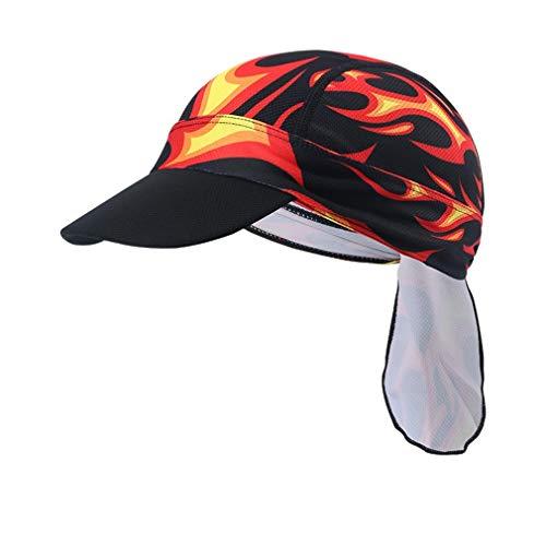 X-Labor Unisex Sonnenschutz Cap mit Schirm Atmungsaktiv Sommermütze Bandana Kopftuch Fahrrad Radsport Kopfbedeckung Sonnencap Motiv-E