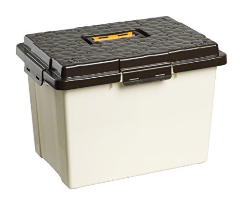 Rotho 4551407715 Tragebox Putzbox Pferdebox mit Softgriff aus Kunststoff (PP), geeignet für Aufbewahrung und Transport von Utensilien und Trockenfutter, Inhalt ca. 19 l, circa 41 x 29.5 x 28.3 cm (LxBxH), beige/braun