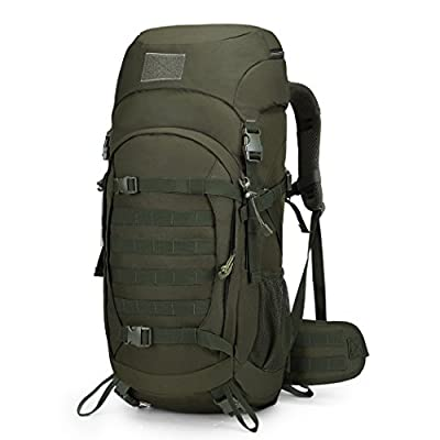 Mardingtop 50L/60L Hiking Backpack Molle Internal Frame Backpacks with Rain Cover for Tactical Military Camping Hiking Trekking Traveling