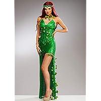 Magic Box Disfraz de Hiedra venenosa de corsé de Lentejuelas Deluxe para Mujer Small (UK 8-10)