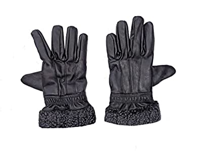 GOOD LIFE STUFF Leather Gloves for Women in Black (GLS-7011)