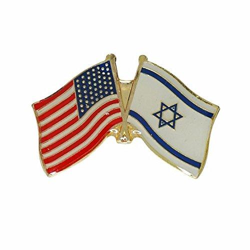 Israel Usa Friendship Flag Enamel Badge Lapel Pin Israel United States Gift