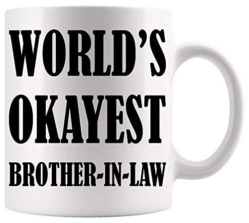 Taza de hermano Copa de hermana Mejor cuñado del mundo Regalo de cumpleaños Camiseta Camiseta Tazas divertidas Tazas