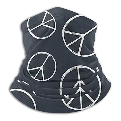 GKAOSPLSR Calentador de cuello de microfibra reutilizable para hombres y mujeres, resistente al viento, transpirable, bandana para correr, ciclismo al aire libre, signo hippie