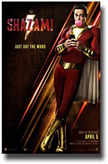 Shazam Poster Movie Promo 11 x 17 inches Standing Gum Just Say The Word