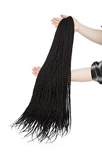 Crochet Braids Senegalese Twist Hair Extensions 3 Bündel Synthetik Flechten Haar Small Havana Mambo 2 X Twist Braids Hair 30 Ständer/Bunlde 61 cm –