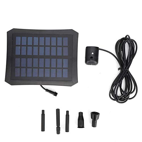 Zonne-energie luchtpompset, 9v 2.5w zonnepaneel, zonne-energie fontein Zonne-waterpomp Waterzuurstofpomp Ingebouwde batterij 7.4V, 1000mAh