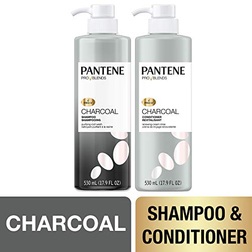 Price comparison product image Pantene,  Shampoo and Sulfate Free Conditioner Kit,  with Activated Charcoal,  Pro-V Blends,  35.8 fl oz