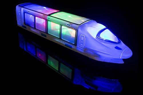 PALESTRAKI Elektrische Eisenbahn Kinder - Mit LED Beleuchtung und Musik. Tolles Geburtstagsgeschenk, Geschenk für Jungen und Mädchen ab 3 Jahre