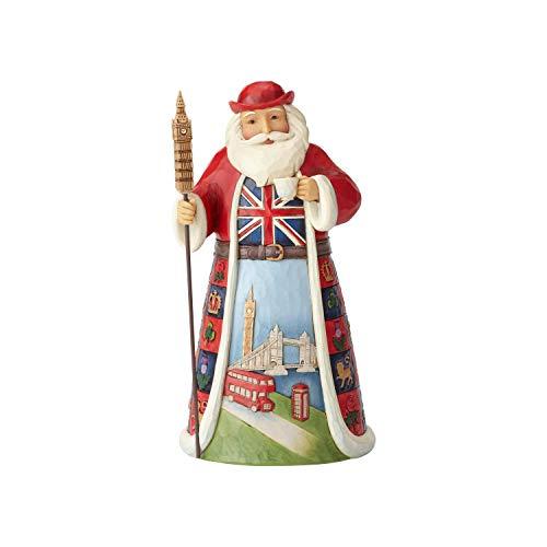 Enesco Jim Shore Heartwood Creek British Santa Around the World Figurine, 7', Multicolor, 2 Count