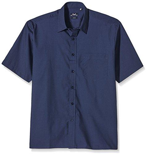 Premier Workwear Herren Poplin Short Sleeve Shirt Businesshemd, Blau (Navy), XXXXX-Large