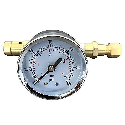 Noblik Valvola di pressione regolabile con blocco a sfera con manometro 0-60 Psi, Home Brew Kegging Attrezzatura per birra birra Corny Keg