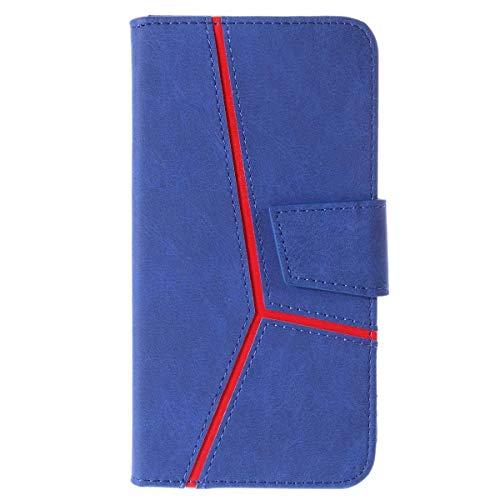 DENDICO Cover Galaxy A8 Plus Slim Magnetica Custodia a Portafoglio in Pelle Protettivo Case Cover con Chiusura Magnetica per Samsung Galaxy A8 Plus - Blu