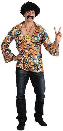 (XL) Herren Hippie Hemd Kostüm für 60s Mods Rockers Hippy Kostüm XL
