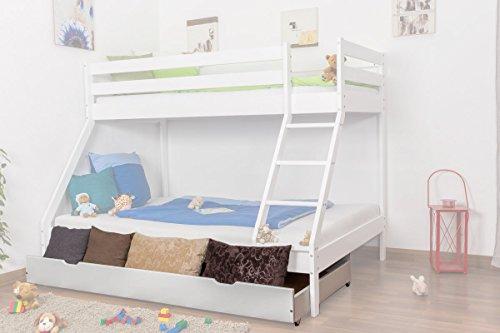 Bettkasten für Etagenbett Lukas Buche Vollholz massiv - weiß