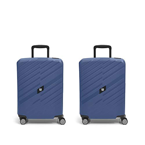 Gabol - Sendai | Rigids Blue Stewardess Travel Case Set with 2 Cabin Suitcases