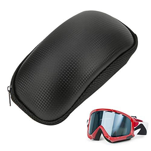 SALUTUYA Caja Protectora de Gafas portátil Estuche de Transporte de Gafas de diseño Ligero con Cierre de Cremallera, Exterior