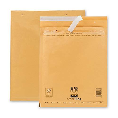 OfficeKing Luftpolstertaschen reißfest 100 Stk Braun E/5 | 240 x 275mm DIN B5+