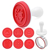Cookie Stamps Mold Set of 6 - Christmas theme Cookie Cutter (Red)