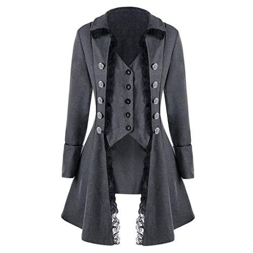 Shinehua Vintage Steampunk Gothic Jas Victoriaans lange mantel carnaval cosplay kostuum elegante smoking-blazer middeleeuwse kleding
