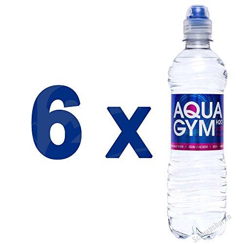 AQUAGYM H2O EXTRA STRONG 6 x 0,5l Erfrischungsgetränk koffeinhaltig und kalorienfrei