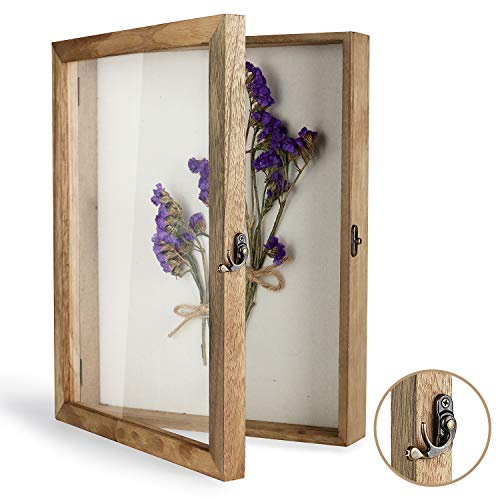"TJ.MOREE Shadow Box Display Case 11"" x 14"" Shadowbox Frame with Linen Back Memorabilia Bouquet Medals Photos Memory Box for Keepsakes"