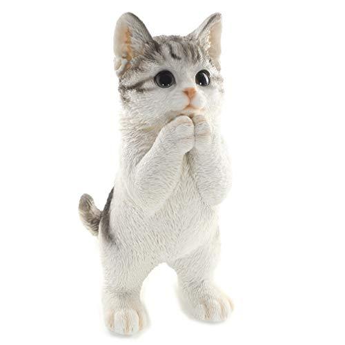 [ファンシー] ca76 (サバトラ) 誕生日プレゼント 女性 人気 彼女 ネコ サバトラ 母の日お返し プ レゼント 人気 ギフト 猫 置物 インテリア ガーデニング ガーデンオーナメント 猫 好き な 人 へ の プレゼント 結婚記念日 転居 最適なプレゼント