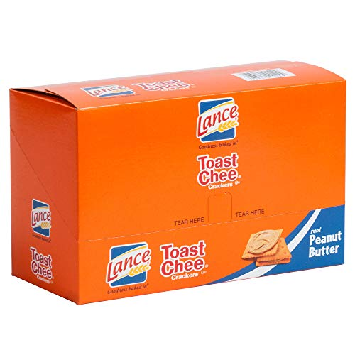 Lance Toast Chee Peanut Butter Sandwich Crackers, 1.5 Ounce - 20 Count Box