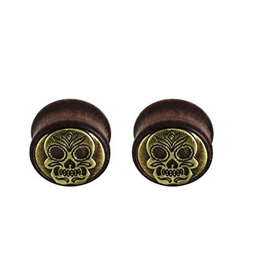 LCHB 1 par de dilatadores para los oídos para mujeres y hombres, expansores de túnel, dilatadores de dilatación para el cuerpo de joyería para mujeres (color: estilo 4, tamaño: 20 mm)