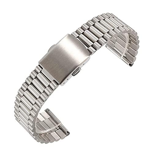 REDCVBN Reloj Inteligente 12 mm 14 mm 16 mm 18 mm 20 mm Metal Acero Inoxidable Correa de Repuesto Pulsera Pulsera (Color de la Banda: Dorado, Ancho de Banda: 16 mm)