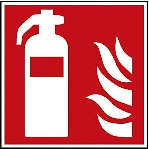 PVC Aufkleber Brandschutzkennzeichen - Feuerlöscher - K1581/87 - BGV A8, DIN 4844 und Arbeitsstättenverordnung 200 x 200 mm