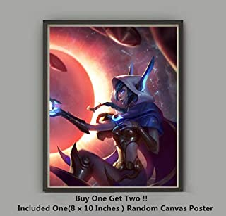 QG Art The Legend Love Couple of Rakan and Xayah Video Game Art Prints Wall Poster,Not Included Frame