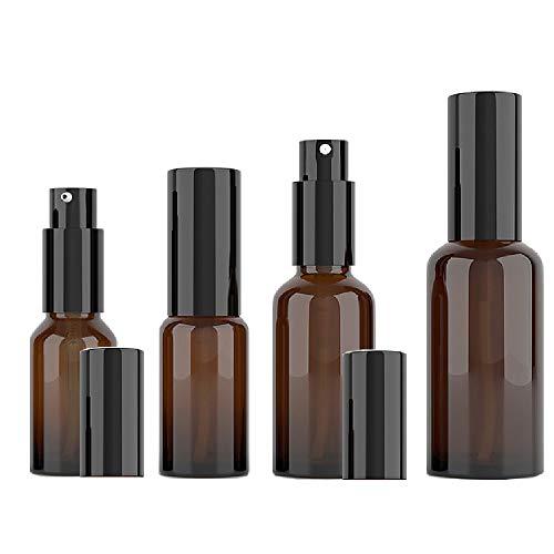 Bernstein Glas Spray Flaschen Parfümzerstäuber Sprühflasche 10 20 30 50ML Tragbares Reiseflaschen Set mit Trichter für Parfüms Reinigung Ätherische Öle und Haar Festiger usw