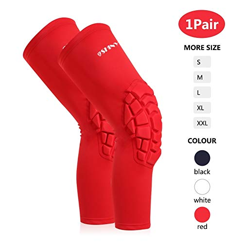 SHINYPRO Basketball Knee Pad Sleeve - Compression Volleyball Baseball Knee Braces for Men & Women Athlete, Perfect Joint Pain Relief Leg Muscle Support for Contract Team Sport