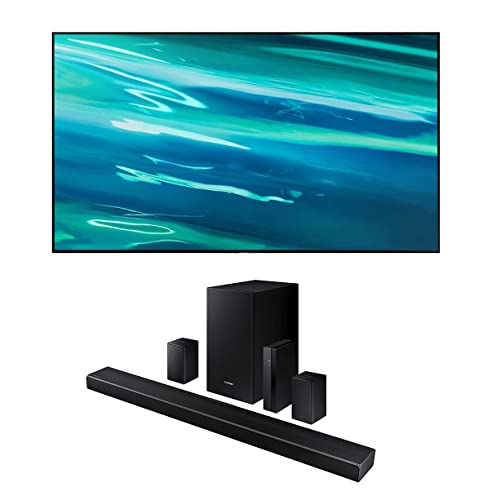 Samsung QN75Q80AA 75' Class Ultra High Definition QLED 4K Smart TV with a Samsung HW-Q67CT 7.1CH Soundbar...