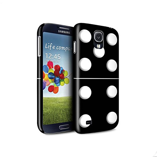 Telefoon Matte Case voor Samsung Galaxy S4/SIV Dominoes/Dominos Zwart Tegel 5/4 Ontwerp Mat Harde Snap On Cover