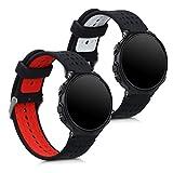 kwmobile 2X Pulsera Compatible con Garmin Forerunner 230/235/630/220/620/735 - Brazalete de Silicona...