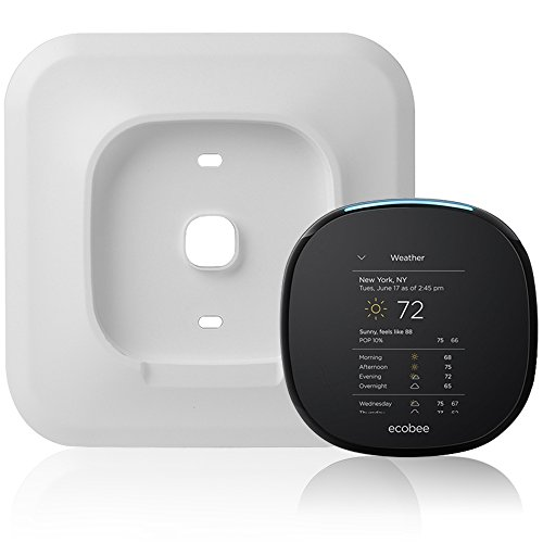 Wall Plate Bracket for Ecobee 4 Smart Wi-Fi Thermostat by HOLACA (White-Ecobee4)