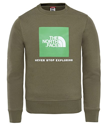 The North Face Y Box Crew Sudadera, Niños, Verde, XS