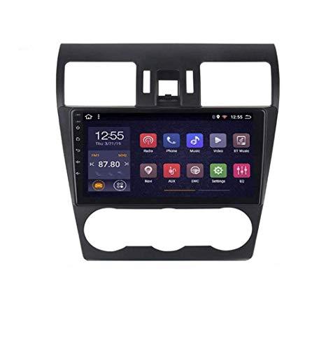 Radio de coche Android 8.1 con GPS, pantalla táctil HD de 9 pulgadas, para Subaru Forester 2012 – 2015, con control en el volante, Bluetooth, manos libres, Link DAB USB, 4G + WiFi 1G + 16G