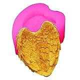 Molde de silicona 3D, diseño de plumas de amor, para velas, peonías, arcilla fimo, decoración de pasteles, gelatina, chocolate, fondant, fondant, fondant, fondant hecho a mano, pasta de goma, jabón.